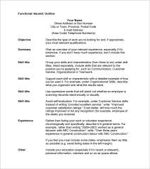 Resume Outline Free Adorable Gallery Of Resume Outline Template 48 Free Sample Example Format