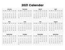 Printable calendar templates are accompanied with innumerable benefits and some of these are mentioned below not solely for a day or month, our calendar templates will help you out in strategizing a routine for the whole year. Full Year Calendar 2021