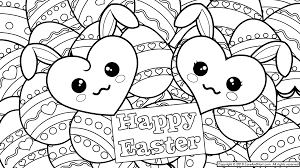 Small Picture Cute Easter Bunny Coloring Pages GetColoringPagescom