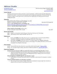 Freshers Resume Objective B E Freshers Resume Sample RESUME 17