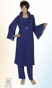 Misty Lane 13536 By Ben Marc 3pc Dressy Pant Suit With Pleated Sleeves