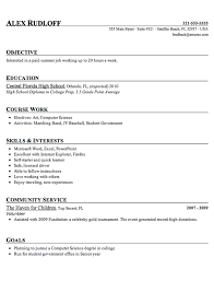Sample Resume High School Graduate