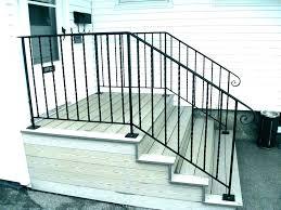 metal hand raings outdoor stair for steps wrought iron raing kits exterior s handrails handrail uk
