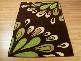green brown and cream rugs