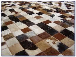 patchwork cowhide rug uk