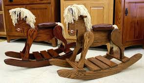 amish rocking horse 3 in 1 horses