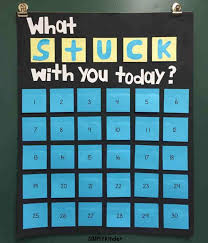 What Stuck With You Today Chart Simply Kinder