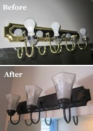 Chrome Bathroom Lighting Fixtures Mesmerizing How To Change Brass And Chrome Light Fixtures To Oil Rubbed Bronze