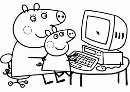 Candy cat peppa pig holidays coloring pages: Peppa Pig Coloring Pages Coloring Home