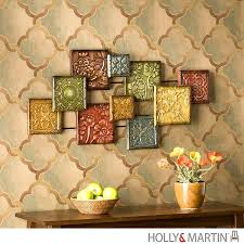 delectable enchanting metal wall decor mosaic extraordinary metal wall decor mosaic holly martin colored tuscan metal
