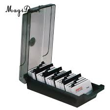Large Capacity Business Card Holder Box Business Card File Storage