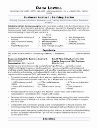 Dental Assistant Resume Examples Lovely Business Analyst Resume
