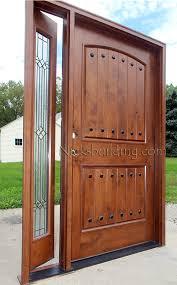 rustic door with venting sidelite