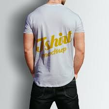 Free T Shirt Template Male Tshirt Back Psd Mock Up Template For Free Download On Pngtree
