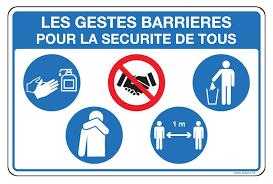Panneau gestes barrières pour la sécurité de tous | Signals