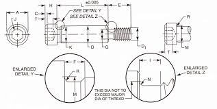 Nas Bolt Size Chart Socket Shoulder Screws Dimensions Properties Aft