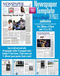 Newspaper Template Indesign Indesign Newspaper Template New Indesign Newspaper Templates At Best