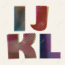 Halftone Dots Font Dirty Grunge Color Pixels Print Texture Print And Color L