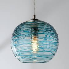 aqua blue chandelier shades