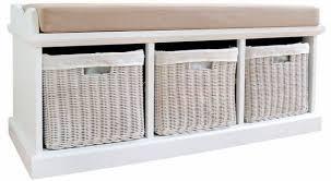 Statement Furniture Tetbury White Bench with Seat Cushion