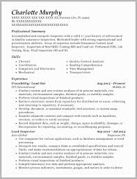 Quality Inspector Resume Stunning Quality Control Resume Examples 40 Inspirational Quality Inspector