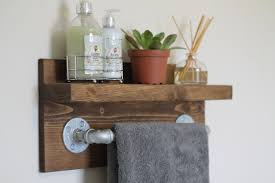 full size of bathroom stunning wooden towel rack with shelf 2 small rustic industrial 203268 wooden