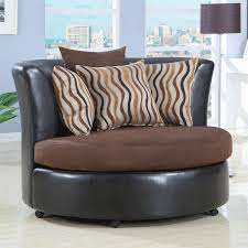 upholstered round cuddle chair by coaster 900274