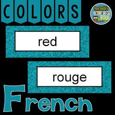 French Color Words Pocket Chart Cards And Worksheets