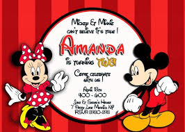 mickey and minnie invitation templates mickey and minnie mouse birthday invitations bagvania free