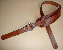 original plain model leather guitar strap