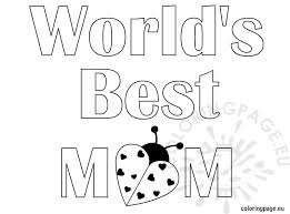 Worlds Best Mom Coloring Page Coloring Page