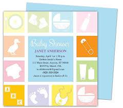 Baby Shower Invitations Template Blocks Shower Invitation