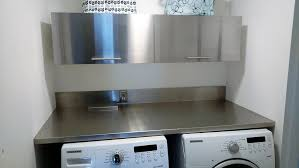stainless steel laundry room counter tops