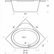 corner bathtub dimensions kohler baths whirlpool standard ideas unusual