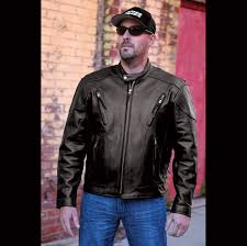 interstate men s jax touring black leather jacket
