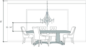 dining room chandelier height kitchen table
