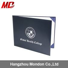 china highest quality leather black certificate holder with custom foil stamping logo china highest quality certificate holder leather black certificate