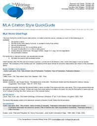 Mla Citation Style By Writing Center Issuu