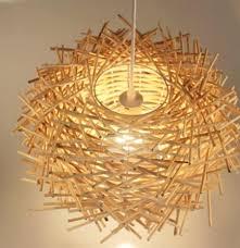 rattan pendant lamp modern hand made pure rattan wooden stick bird nest pendant lamp suspension light rattan pendant