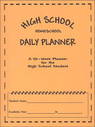 Student Daily Planner With Subjects High School Homeschool Daily Planner Carey Taylor 029491 Rainbow