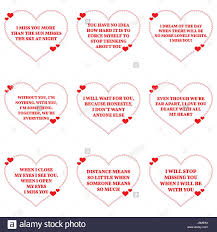 Set Of Quotes About Missing Love Over White Background Simple Heart