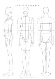 Male Figure Template Fashion Design Templates Body Map For Nude