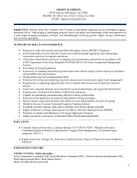 Resume Examples For Military Mesmerizing Logistics Management Resume For Shawn Gibson 48 December 4848