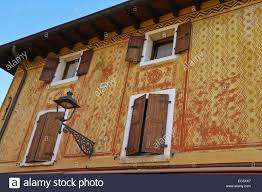 Stencilled Design On House Exterior Walls Old Building Bardolino - Exterior walls