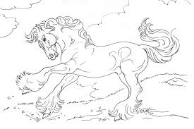 Small Picture Coloring Pages Mustang Wild Horse Coloring Page Free Printable