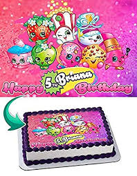 Shopkins Edible Cake Topper Personalized Birthday 14 Sheet