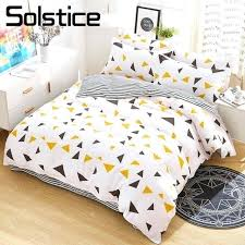 white king size duvet cover 100 cotton asda solstice home textile yellow triangle stripe bedrooms