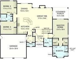 3 Bedroom Open Floor House Plans New Decoration