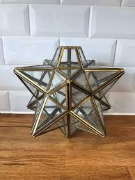 Brass Glass Star Light Shade Fitting In Adlington Lancashire Gumtree