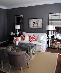 Living Room:Interior Living Room Paint With Grey Wall Color And Frame  Decoration Idea Outstanding